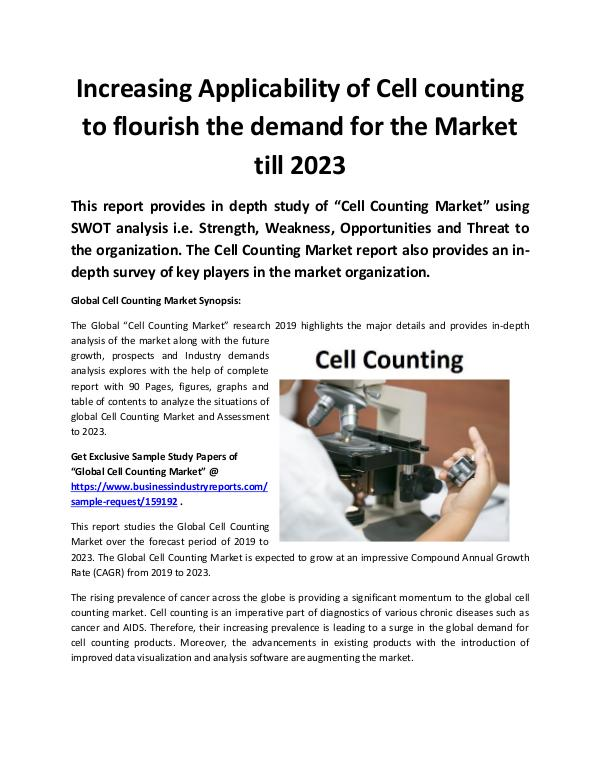 Global Cell counting Market 2023