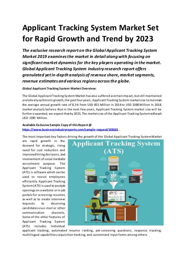 Global Applicant Tracking System Market Report 201