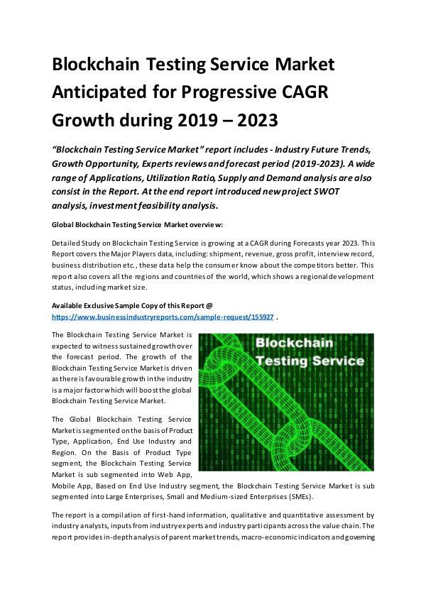 Global Blockchain Testing Service Market Report 20