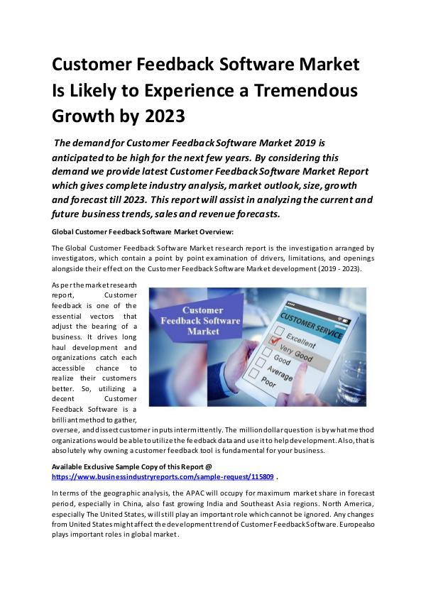 Global Customer Feedback Software Market Report 20