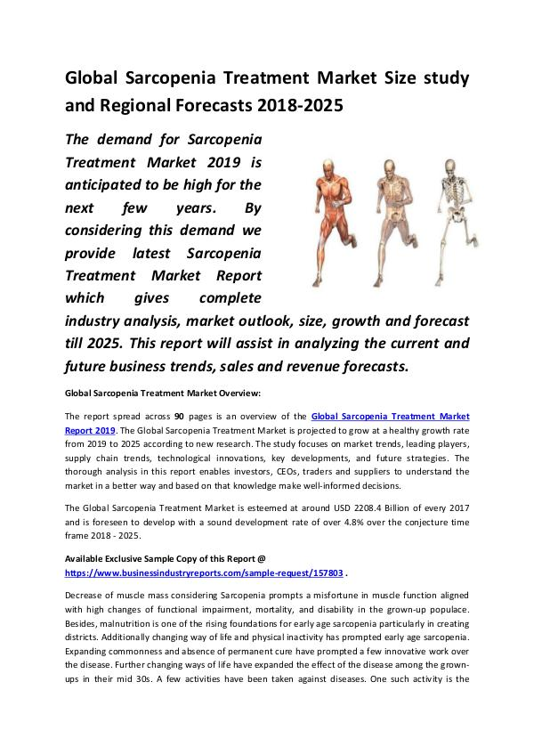 Global Sarcopenia Treatment Market Size study, by