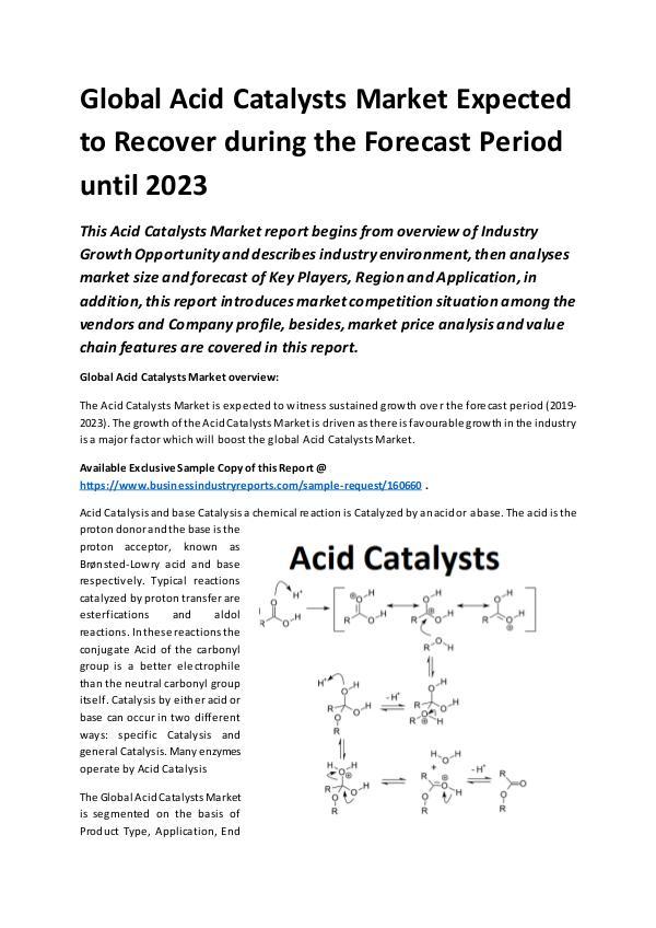 Global Acid Catalysts Market Report 2019