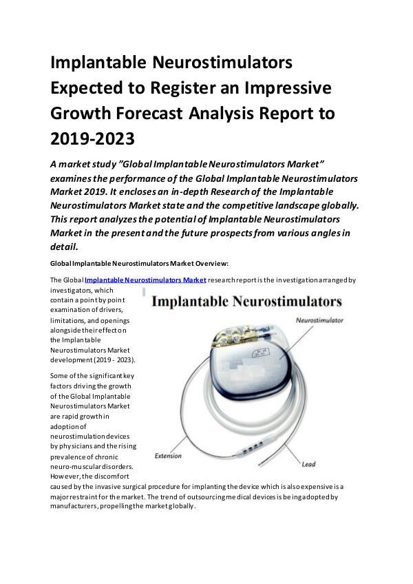 Global Implantable Neurostimulators Market Report