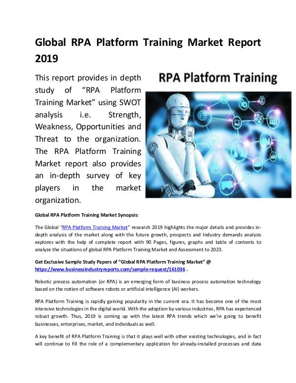 Global RPA Platform Training Market Report 2019