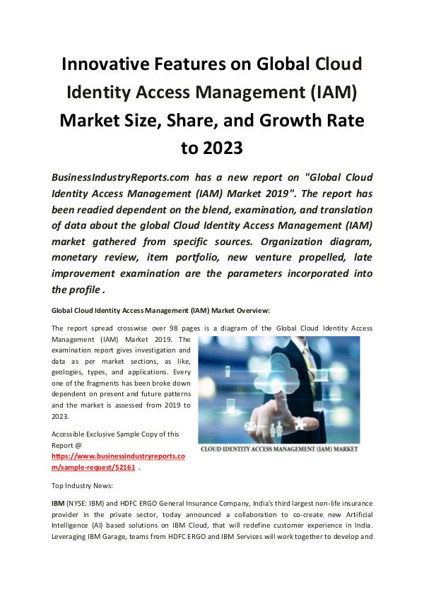 Global Cloud Identity Access Management Market 201