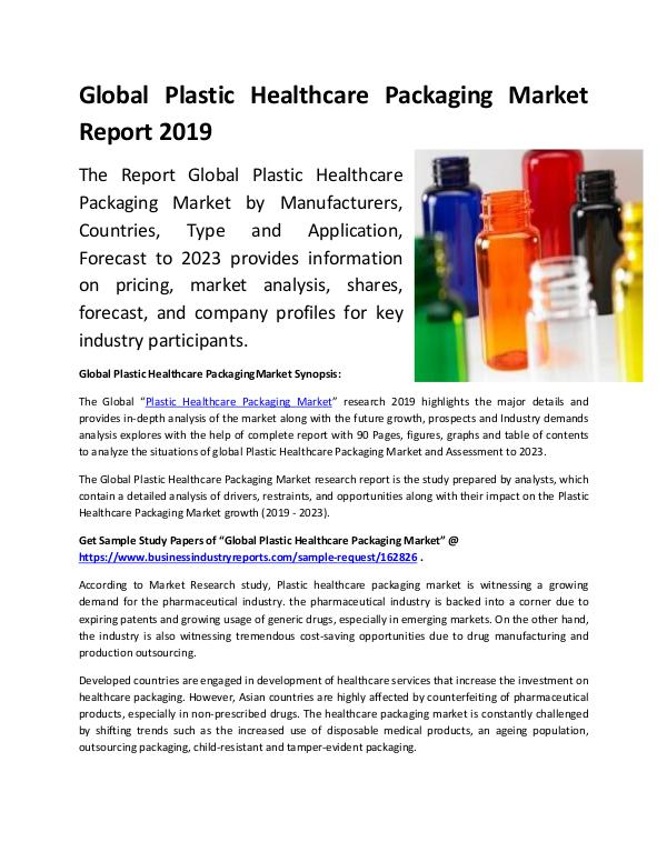 Global Plastic Healthcare Packaging Market Report