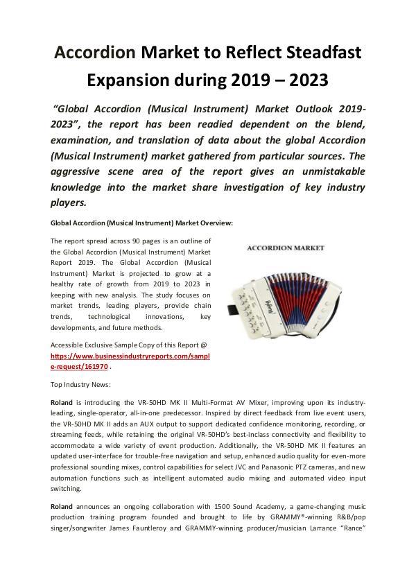 Global Accordion (Musical Instrument) Market 2019