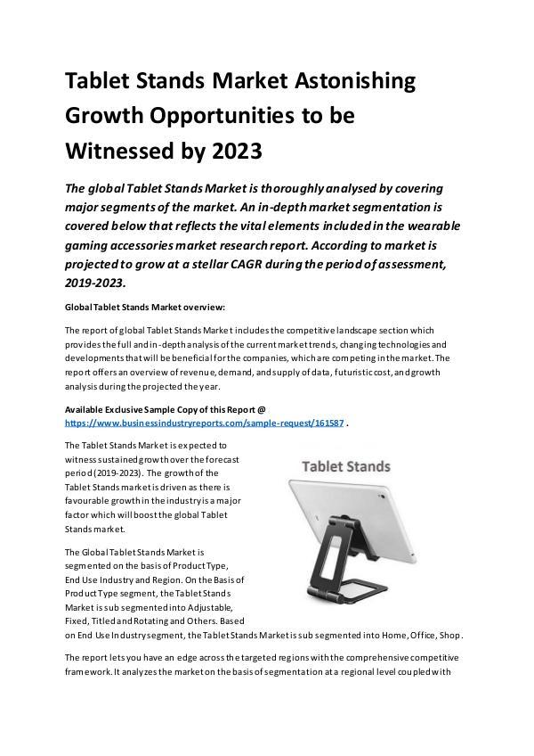 Global Tablet Stands Market Report 2019