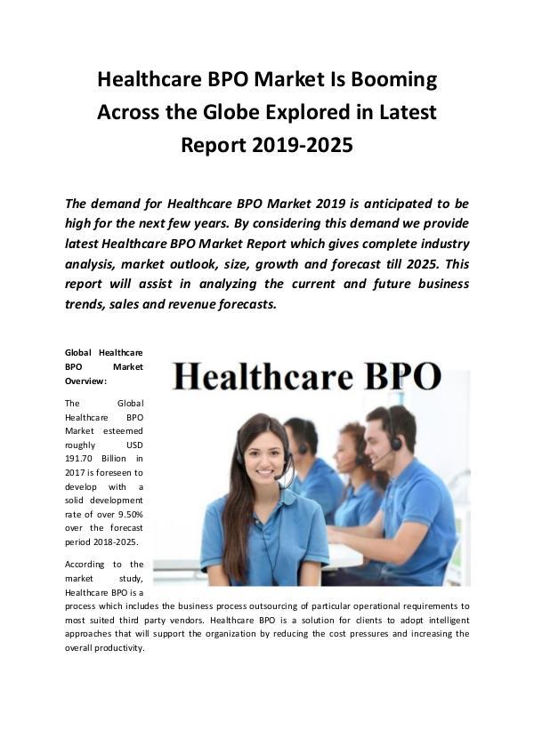 Global Healthcare BPO Market 2019