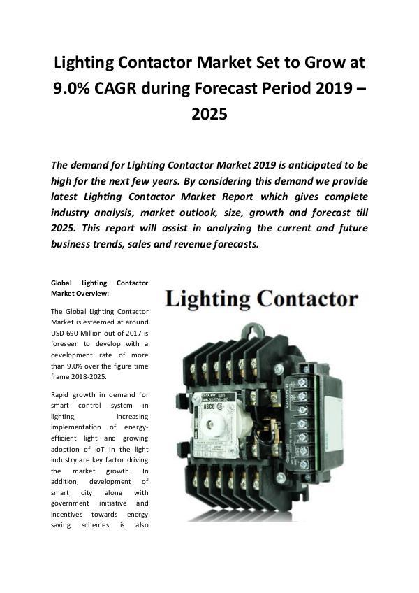 Global Lighting Contactor Market 2019
