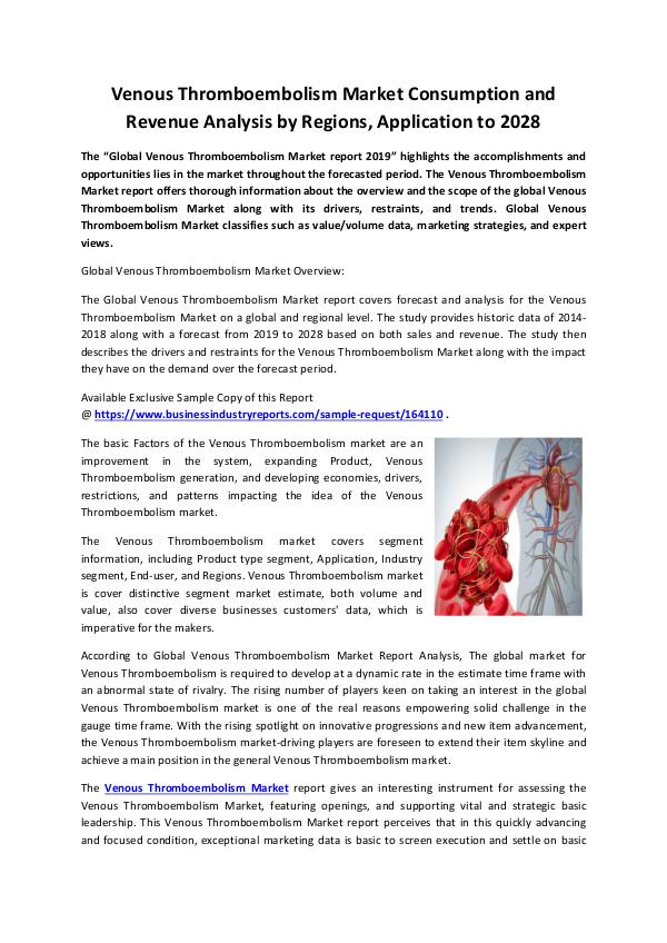 Venous Thromboembolism Market 2019