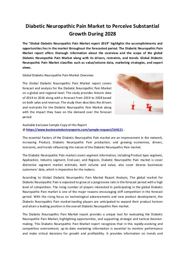 Diabetic Neuropathic Pain Market 2019