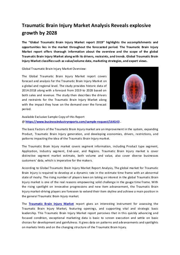 Traumatic Brain Injury Market 2019