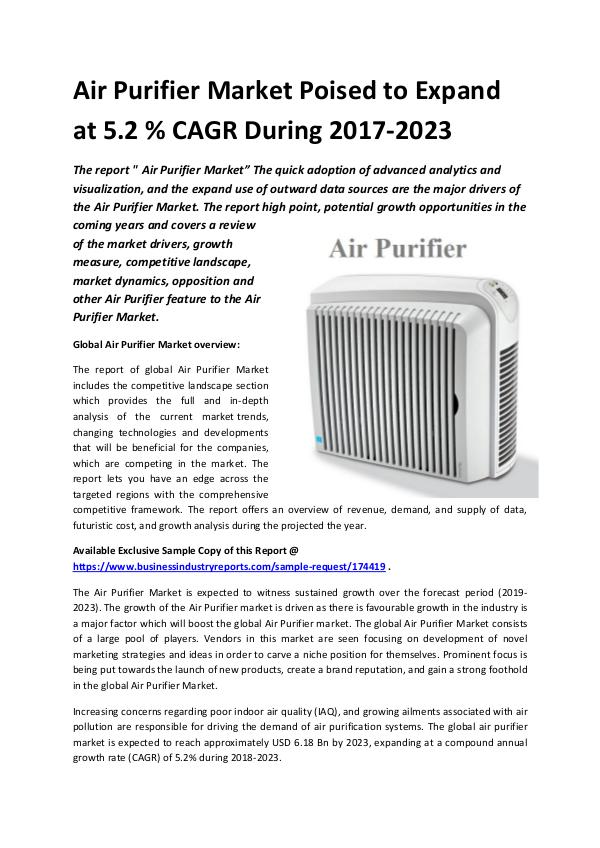 Market Research Reports Global Air Purifier Market 2018-2023.docx