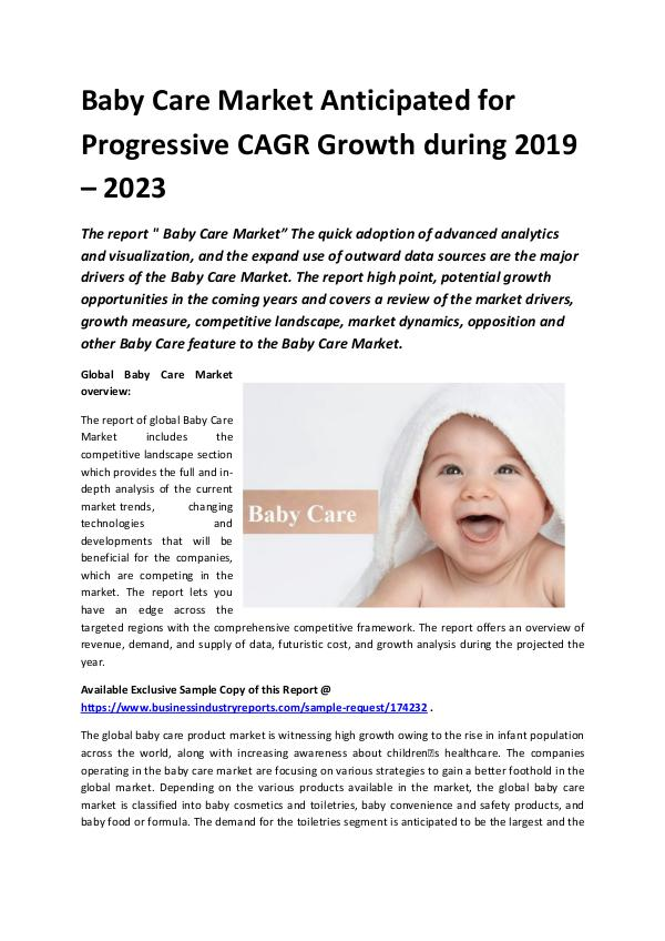 Market Research Reports Global Baby Care Market 2018-2023.docx