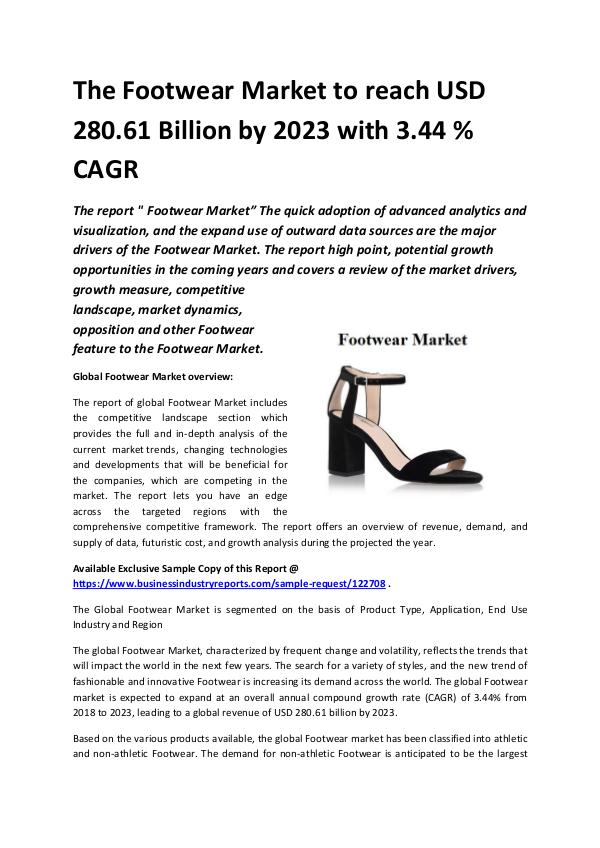 Market Research Reports Global Footwear Market 2018-2023.docx