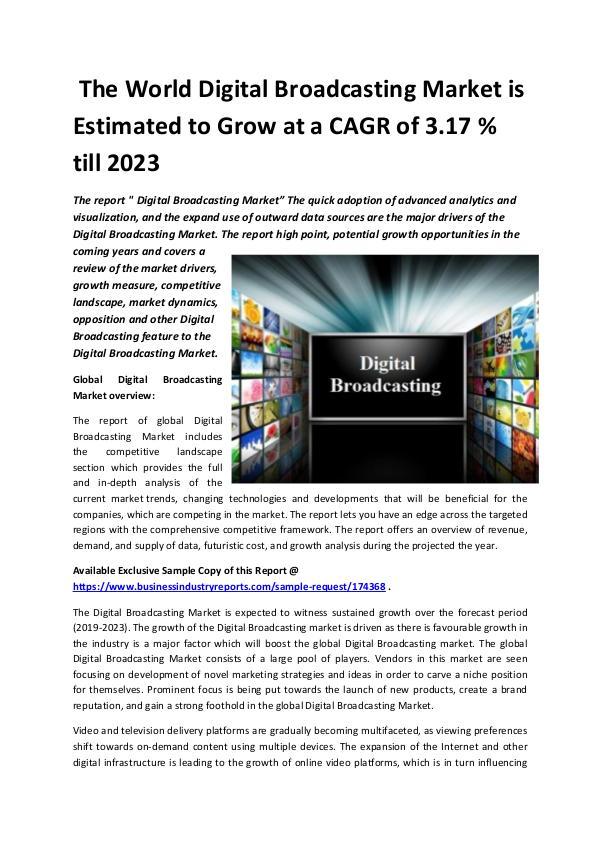 Global Digital Broadcasting Market 2018-2023.docx