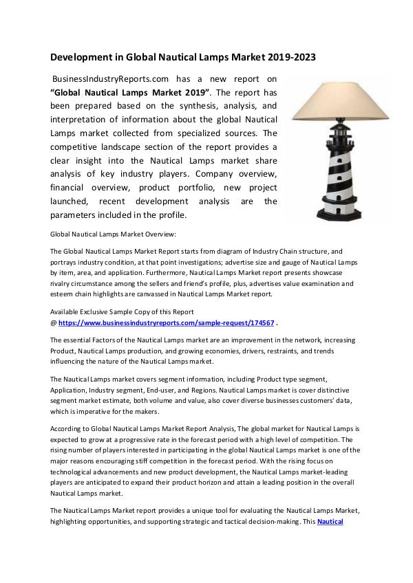 Nautical Lamps Market 2019