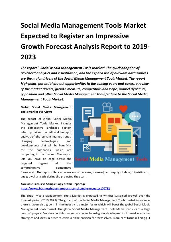 Market Research Reports Global Social Media Management Tools Market Report