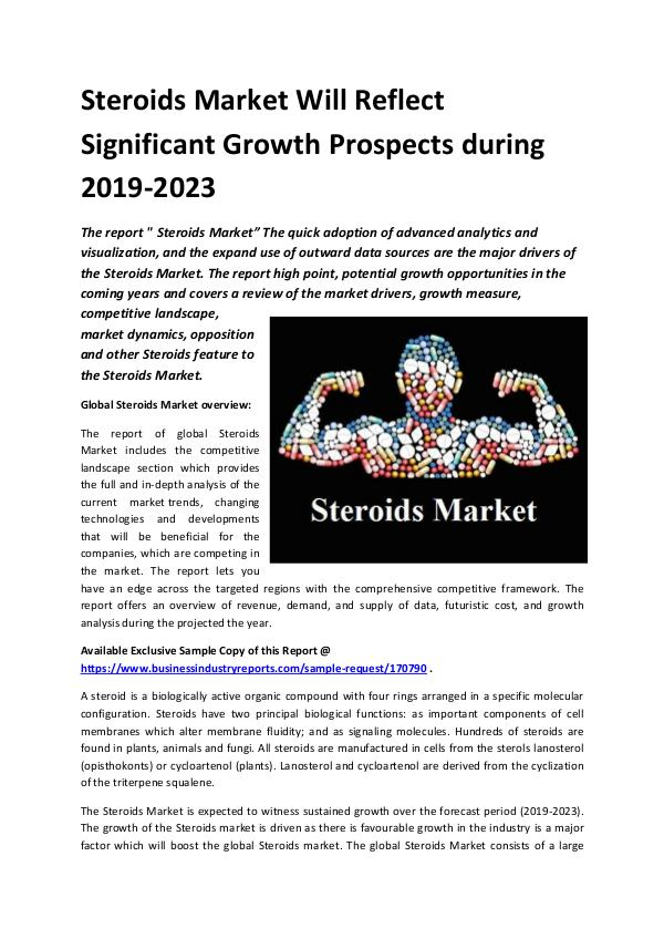 Market Research Reports Global Steroids Market Report 2019.docx