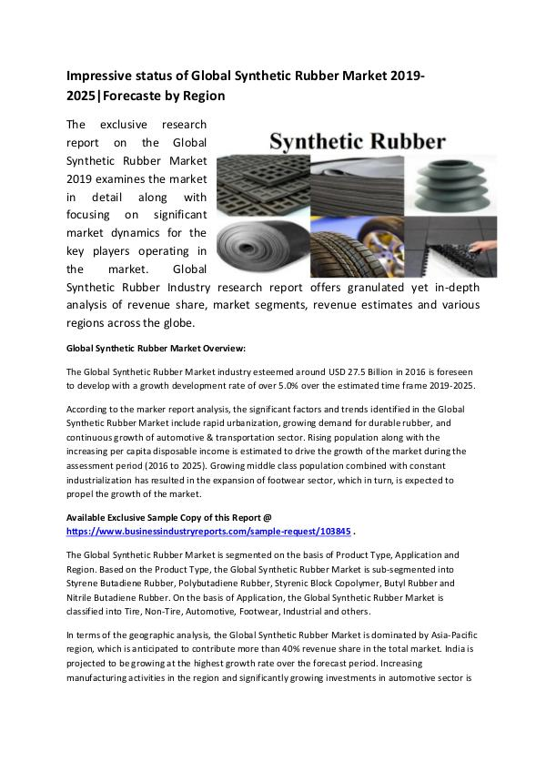 Global Synthetic Rubber Market Size Study, by Type