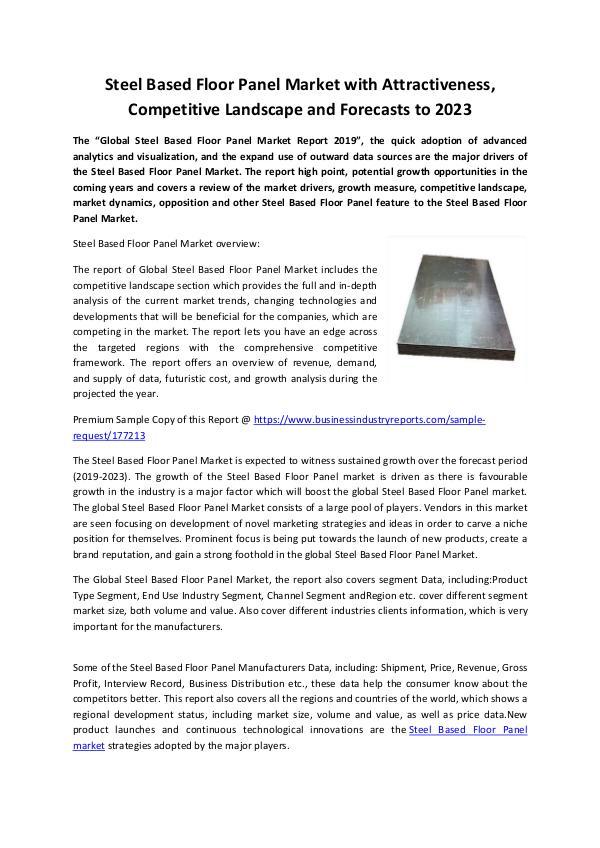Steel Based Floor Panel Market 2019