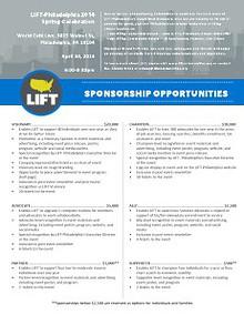 Sponsorship Invitations 2014