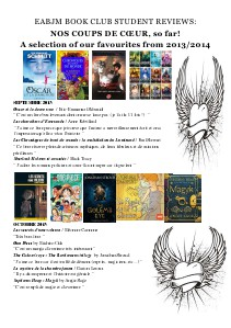 EABJM Book club reviews 2013/2014