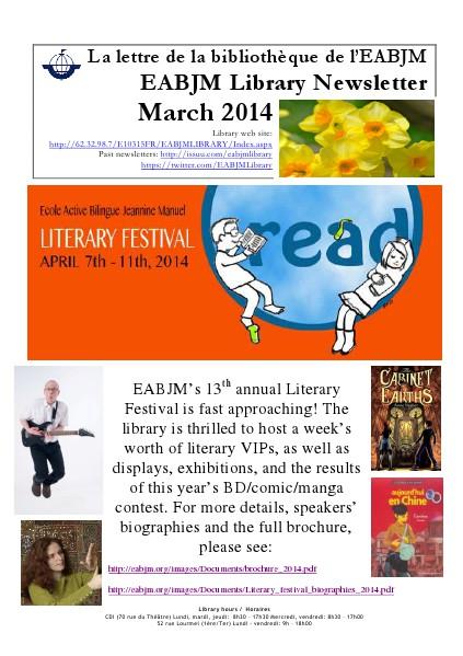 EABJM Library Newsletter / La lettre du CDI