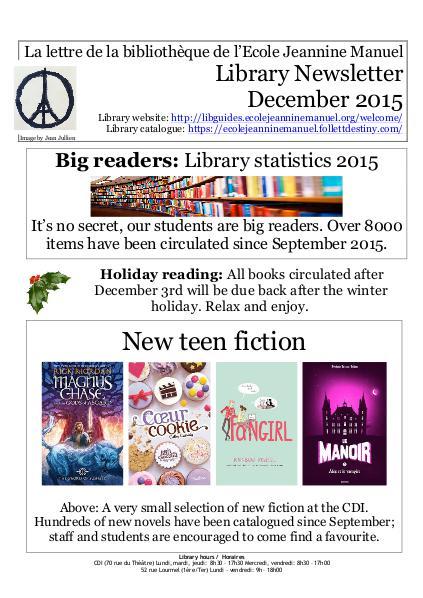 Newsletter December 2015