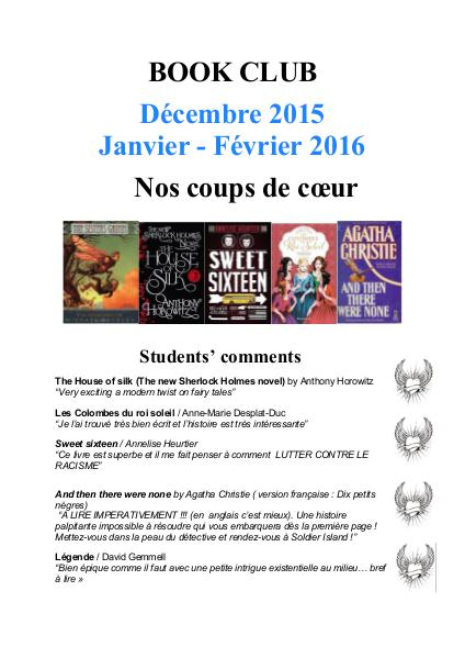 Newsletter Winter 2015/2015