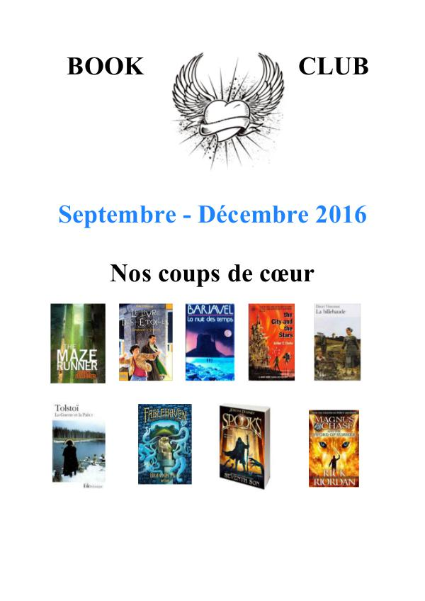 Newsletter September to December 2016