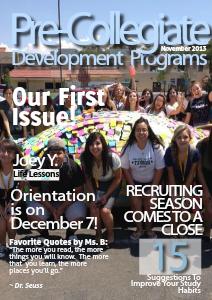 UCCS Pre-Collegiate Development Programs Volume 1: Issue 01