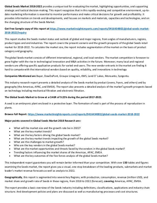 Market Research Global Seeds Market 2018-2022