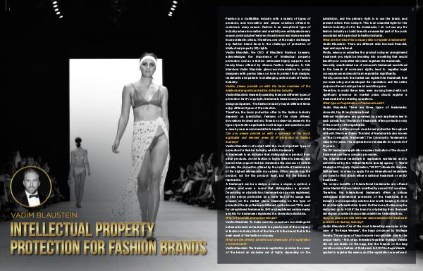 Vadim Blaustein: intellectual property protection for fashion brands English