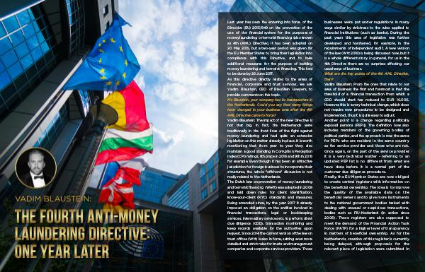 Vadim BlauStein: The Fourth Anti-Money Laundering Directive: one year English