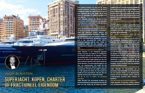 Vadim Blaustein: Wat je moet weten voor aanschaf van een jacht Dutch