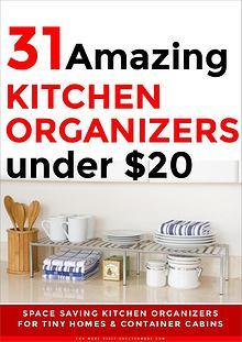 31 Amazing KITCHEN ORGANIZERS under $20