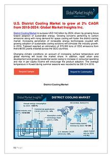 District Cooling Market to reach $140bn by 2024