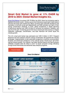 Smart Grid Market to reach $70bn by 2024
