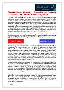 Slideway Oil Market 2019 By Regional Trend, Revenue & Growth Forecast