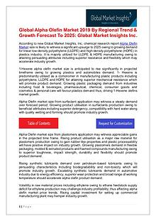 Alpha Olefin Industry analysis research and trends report