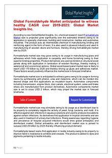 Global Formaldehyde Market 2019 By Regional Trend