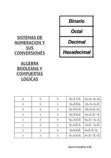 sistemas de numeracion y algebra booleana