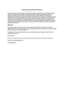 Global Report on Regulatory & Compliance Intelligence by IEBS
