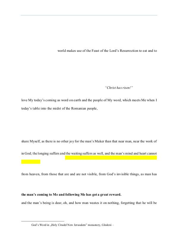 The Word of God in Romania 2014.05.04 - The Word of God on the third Sunday a