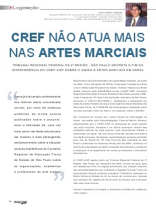 CREF NÃO ATUA MAIS NAS ARTES MARCIAIS