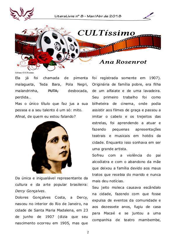 Coluna CULTíssimo Edição 08 - Dercy Gonçalves