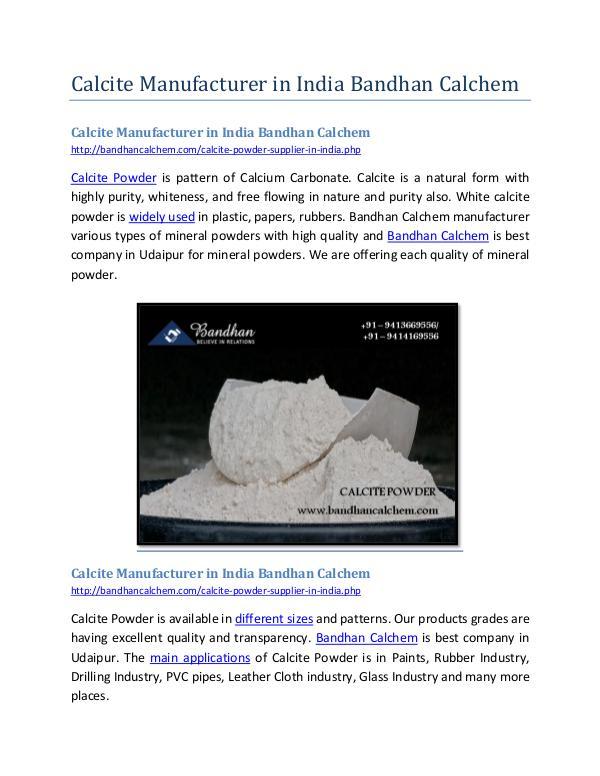 Calcite Manufacturer in India Bandhan Calchem Calcite Manufacturer in India Bandhan Calchem