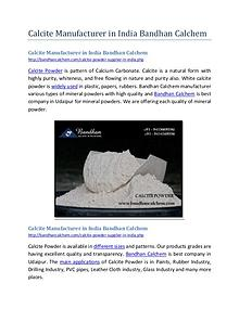 Calcite Manufacturer in India Bandhan Calchem